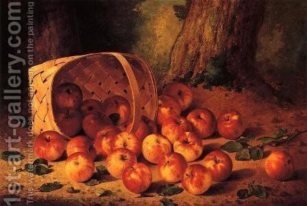 Basket of Apples by Bryant Chapin - Reproduction Oil Painting