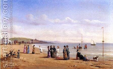 Beach Scene in Normandy by Conrad Wise Chapman - Reproduction Oil Painting