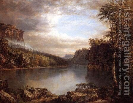 Lake Mohonk I by Daniel Huntington - Reproduction Oil Painting
