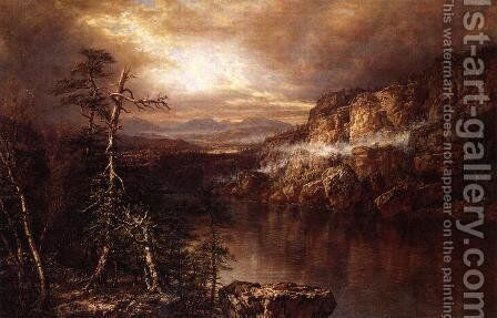 Lake Minnewaska after Showers by Daniel Huntington - Reproduction Oil Painting