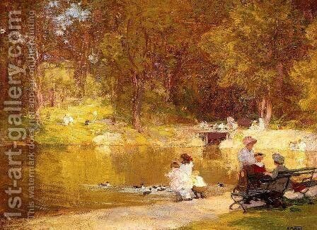 In Central Park by Edward Henry Potthast - Reproduction Oil Painting