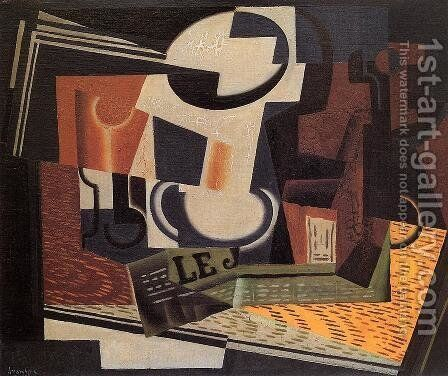 Still Life with Fruit Bowl by Juan Gris - Reproduction Oil Painting