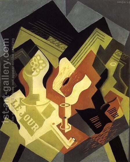 Guitar and Fruit Dish I by Juan Gris - Reproduction Oil Painting
