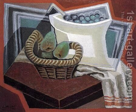 The Basket of Pears by Juan Gris - Reproduction Oil Painting
