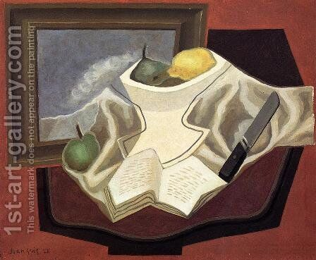The Table in Front of the Picture by Juan Gris - Reproduction Oil Painting