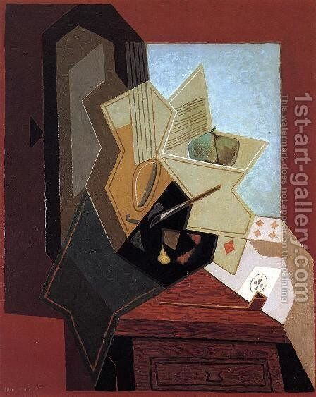 The Flower on the Table by Juan Gris - Reproduction Oil Painting