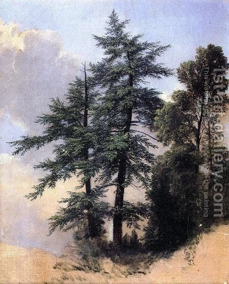 Nature Study, Trees, Newburth, N.Y. by Asher Brown Durand - Reproduction Oil Painting