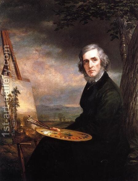 Portrait of Asher Brown Durand by Daniel Huntington - Reproduction Oil Painting