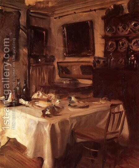 My Dining Room by Sargent - Reproduction Oil Painting
