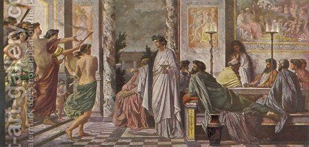 Gastmahl des Plato by Anselm Friedrich Feuerbach - Reproduction Oil Painting