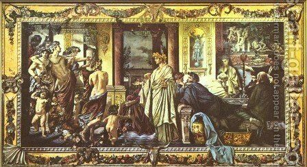 Gastmahl des Plato II by Anselm Friedrich Feuerbach - Reproduction Oil Painting