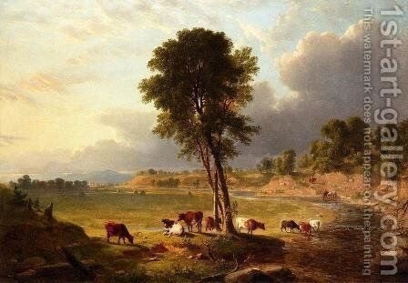 View in the Catskills by Asher Brown Durand - Reproduction Oil Painting