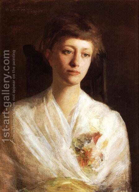 Pensive Model by Abbott Handerson Thayer - Reproduction Oil Painting
