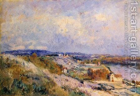The Hills of Herblay in Spring by Albert Lebourg - Reproduction Oil Painting
