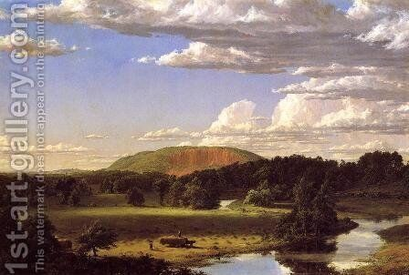 West Rock, New Haven by Frederic Edwin Church - Reproduction Oil Painting