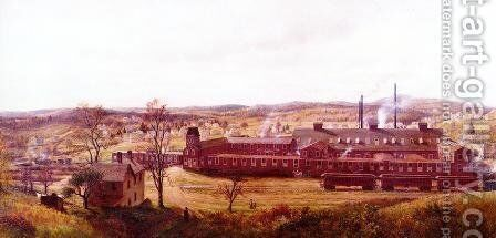 The Butler Hard Rubber Factory by Edward Lamson Henry - Reproduction Oil Painting