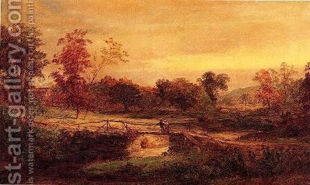 The Meeting by Jasper Francis Cropsey - Reproduction Oil Painting
