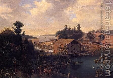 Lanesville, the Mill by Fitz Hugh Lane - Reproduction Oil Painting