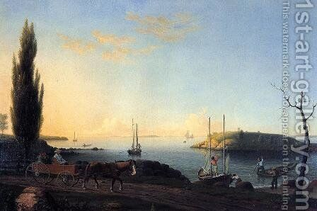 Good Harbor Beach, Cape Ann by Fitz Hugh Lane - Reproduction Oil Painting