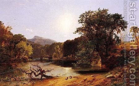 In the White Mountains by Jasper Francis Cropsey - Reproduction Oil Painting