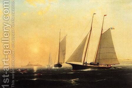 Harbor at Sunset by George Curtis - Reproduction Oil Painting