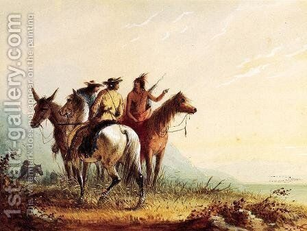 Indian Guide by Alfred Jacob Miller - Reproduction Oil Painting