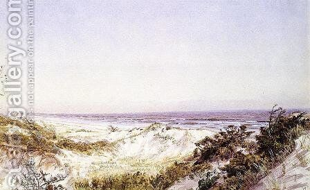 Atlantic City - Beach Dunes and Grass by William Trost Richards - Reproduction Oil Painting