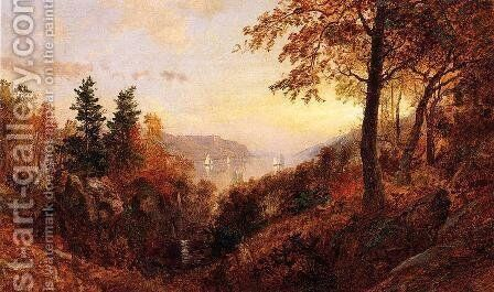 Autumn Landscape by Jasper Francis Cropsey - Reproduction Oil Painting