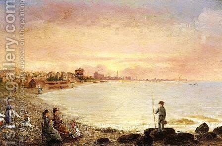 Sunrise at Saint Malo by Conrad Wise Chapman - Reproduction Oil Painting