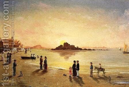 Sunset at Sainnt Malo by Conrad Wise Chapman - Reproduction Oil Painting