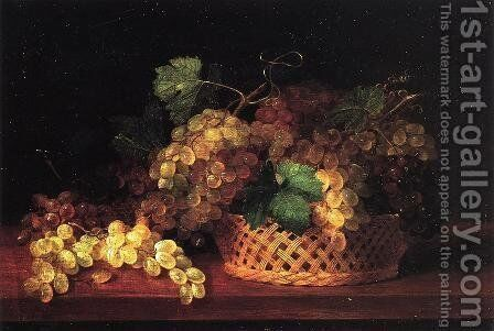 Still Life with Grapes by James Peale - Reproduction Oil Painting