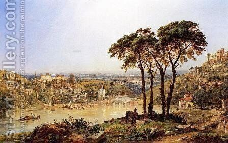 Summer, Noonday on the Arno by Jasper Francis Cropsey - Reproduction Oil Painting