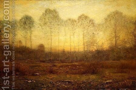 Evening Fog by Dwight William Tryon - Reproduction Oil Painting