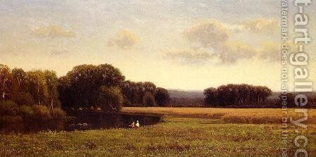 Late Summer Fishing by James Renwick Brevoort - Reproduction Oil Painting