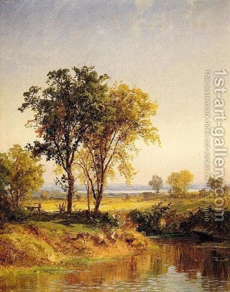 The Pond in Springtime by Jasper Francis Cropsey - Reproduction Oil Painting