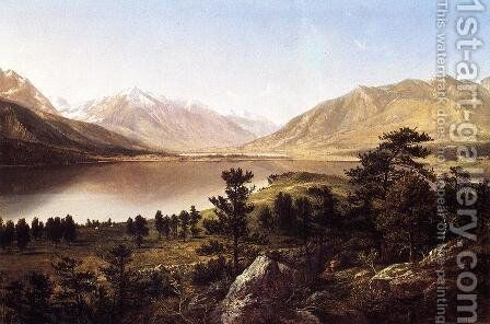 Upper Twin Lakes in the Colorado Rockies by David Johnson - Reproduction Oil Painting