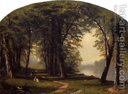 Promenade on Ring Rock by Jasper Francis Cropsey - Reproduction Oil Painting