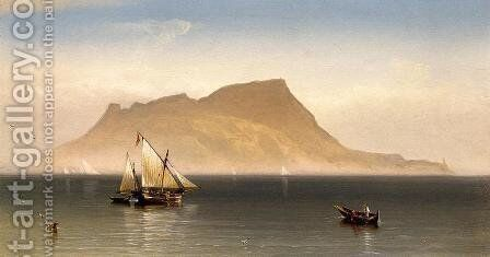 Morning at Gibralter by Charles Temple Dix - Reproduction Oil Painting