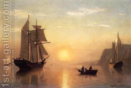 Sunset Calm in the Bay of Fundy by William Bradford - Reproduction Oil Painting