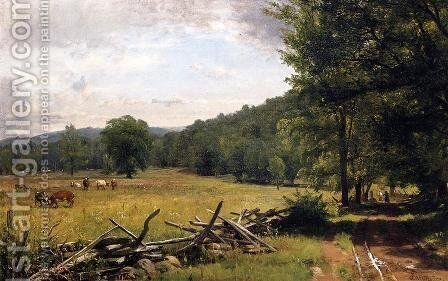 The Meadow by Thomas Worthington Whittredge - Reproduction Oil Painting