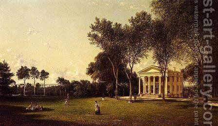 Croquet on the Lawn by David Johnson - Reproduction Oil Painting