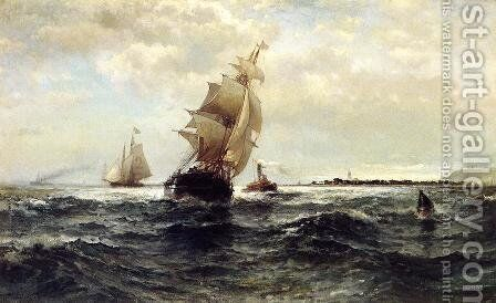 Off Atlantic Highlands by Edward Moran - Reproduction Oil Painting