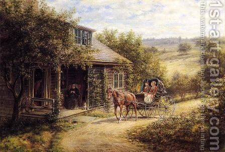 Unexpected Visitors by Edward Lamson Henry - Reproduction Oil Painting