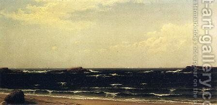 On the Beach - High Noon by Alfred Thompson Bricher - Reproduction Oil Painting