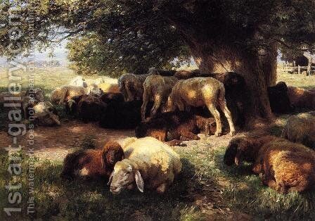 Midday Rest by Herman Hartwich - Reproduction Oil Painting