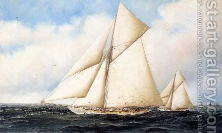 Yacht Race by Antonio Nicolo Gasparo Jacobsen - Reproduction Oil Painting