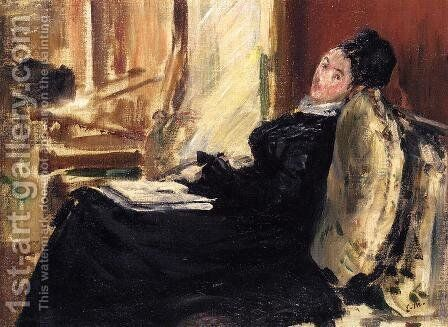 Young Woman with Book by Edouard Manet - Reproduction Oil Painting