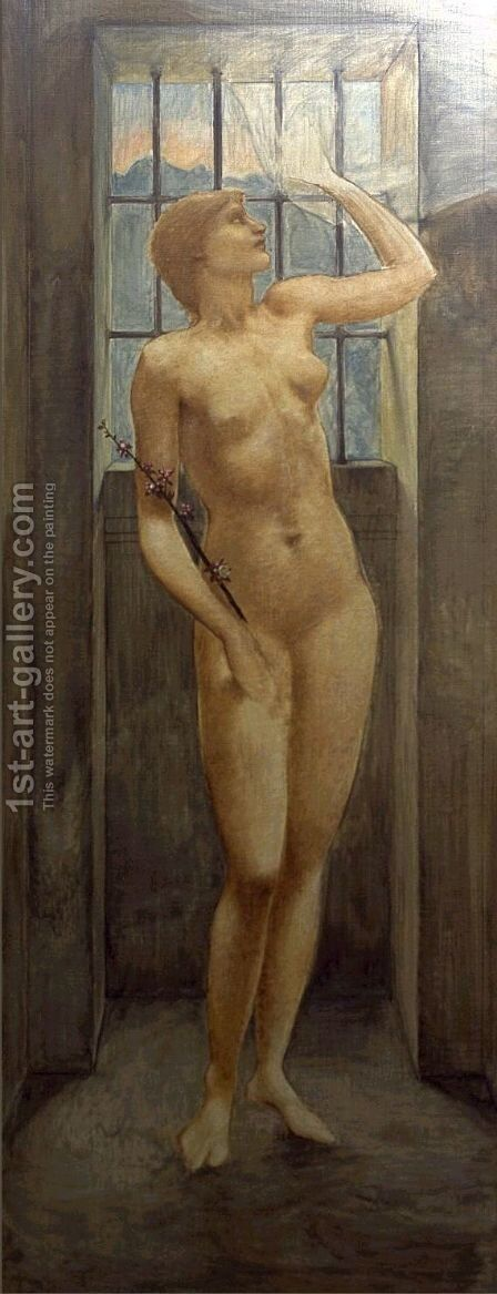 Hope in Prison by Sir Edward Coley Burne-Jones - Reproduction Oil Painting