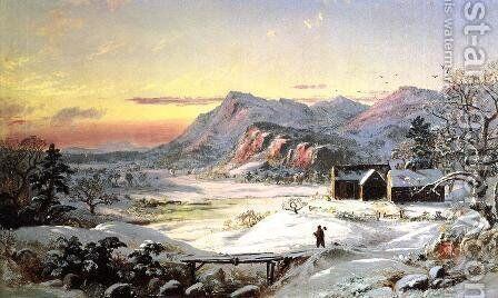 Winter Scene, North Conway, New Hampshire by Jasper Francis Cropsey - Reproduction Oil Painting