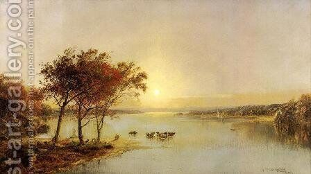 Upper Hudson by Jasper Francis Cropsey - Reproduction Oil Painting